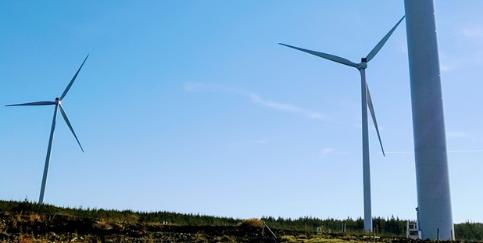 Windpark Dromadda Beg in Irland