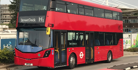 The Wrightbus double-decker StreetDeck