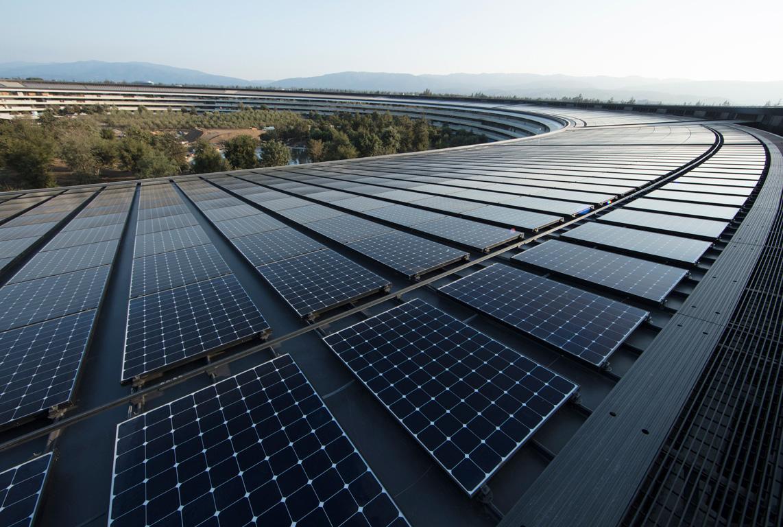 Apple's new headquarters in Cupertino