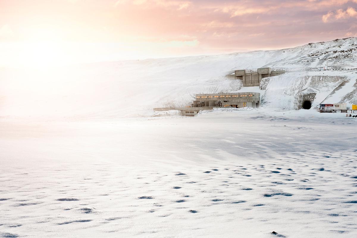 Das Wasserkraftwerk Budarhals in Island