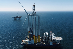 Turbine-Installation Arkona Offshore Windpark