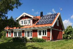 Glas Glas Solarmodul in Schweden