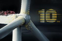 Erste 10 MW-Windkraftanlage